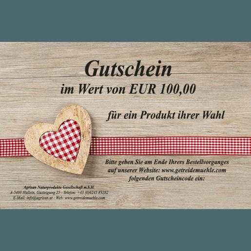 Gutschein im Wert von 100,00 Euro